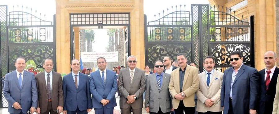 President of Mansoura University opens the new gate
