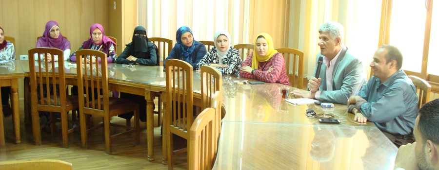 Dean of the Faculty of Agriculture meets the teaching assistants
